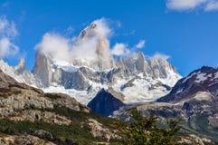 费兹罗伊峰顶, El Chalten,阿根廷 图库摄影