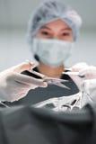 兽医外科医生运转中室 库存图片