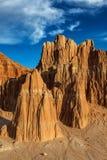 内华达伟大的盆地沙漠红色岩石风景 免版税库存图片