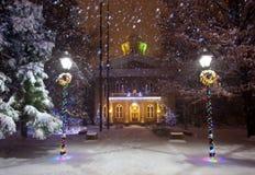 内华达国会大厦在冬天 免版税库存照片