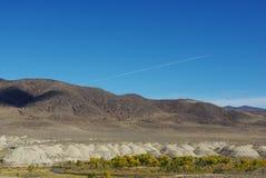 内华达在Fernley附近的沙漠秋天 库存图片