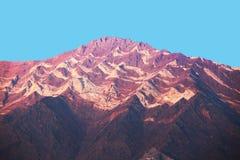 内华达山山五颜六色的侵蚀 免版税库存图片