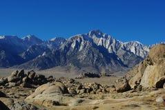 内华达山脉和阿拉巴马小山,加利福尼亚 库存照片