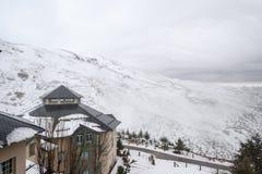 内华达山西班牙滑雪胜地 库存图片