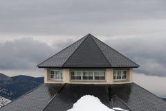 内华达山西班牙滑雪胜地 图库摄影
