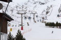 内华达山西班牙滑雪胜地 免版税库存照片