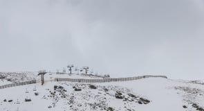 内华达山西班牙滑雪胜地 库存照片