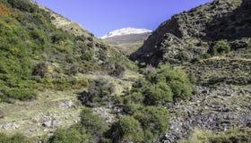 内华达山,安大路西亚,西班牙谷  免版税库存照片