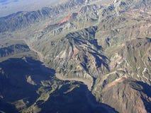 内华达的山地区在米德湖附近的 库存图片