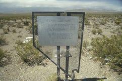 内华达试验基地,核试验着陆,在拉斯维加斯北部, NV 图库摄影