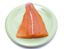 内圆角桃红色三文鱼 免版税库存图片