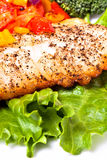 内圆角鱼蔬菜 库存照片