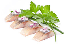 内圆角鲱鱼盐 图库摄影