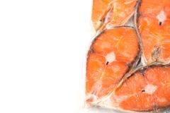 内圆角冻结的三文鱼 库存图片