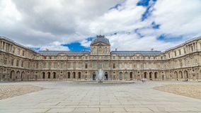内在围场与喷泉timelapse hyperlapse的天窗 法国巴黎 股票录像