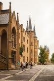 内在围场Hohenzollern城堡一个雨天 免版税库存图片
