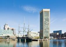 内在巴尔的摩的港口 免版税库存照片