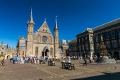 内在法院或Binnenhof的看法大厦复合体在t的 免版税库存图片