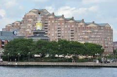内在港口在巴尔的摩,马里兰 库存图片