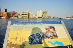 内在港口在巴尔的摩 库存图片