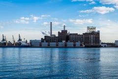 内在港口地平线从在巴尔的摩,马里兰击倒点 免版税库存照片