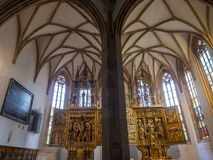 内在看法,天主教在Hallstatt,萨尔茨卡默古特,奥地利 库存照片