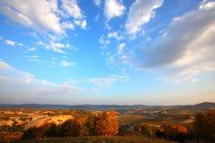 内在蒙古大草原天空 免版税库存照片