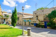 内在围场,在历史的Nachlaot区,耶路撒冷 库存图片