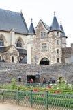 内在围场Angers城堡,法国 库存照片