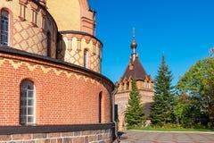 内在围场Kuremae Dormition女修道院 爱沙尼亚,欧盟 图库摄影