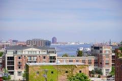 内在巴尔的摩的港口 免版税图库摄影