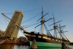 内在巴尔的摩的港口 库存图片
