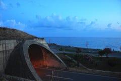 内地海和隧道在Kanakli区域  免版税图库摄影