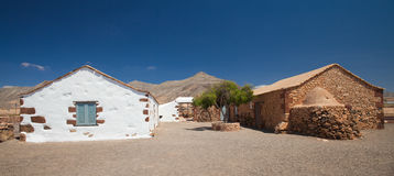 内地费埃特文图拉岛,露天博物馆Ecumuseo la Alcogida 免版税库存图片