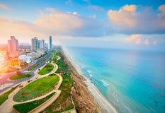 内塔尼亚市,以色列看法  免版税图库摄影