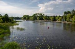 内塔河,波兰, Masuria, podlasie 免版税库存图片