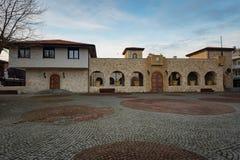 内塞伯尔,保加利亚- 2017年2月05日:保加利亚房子在内塞伯尔镇  在1956年内塞伯尔被宣称当博物馆城市, a 免版税图库摄影