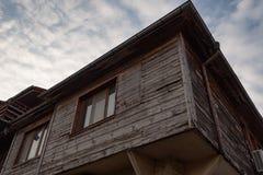 内塞伯尔,保加利亚- 2017年2月05日:保加利亚房子在内塞伯尔镇  在1956年内塞伯尔被宣称当博物馆城市, a 免版税库存照片