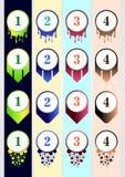 内容企业infographic内容的五颜六色的子弹汇集模板 皇族释放例证