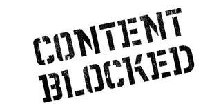 内容阻拦了不加考虑表赞同的人 免版税库存图片