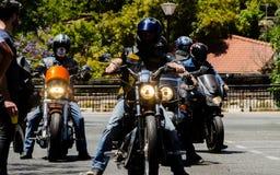 内尔哈,西班牙- 2018年6月10日摩托车集会在著名安达 免版税图库摄影