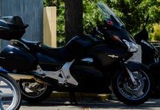 内尔哈,西班牙- 2018年6月10日摩托车集会在著名安达 免版税库存图片