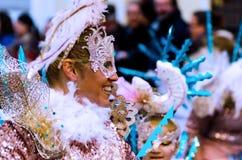 内尔哈,西班牙- 2月10,在服装庆祝的2018People 图库摄影