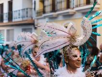 内尔哈,西班牙- 2月10,在服装庆祝的2018People 免版税库存图片