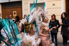 内尔哈,西班牙- 2月10,在服装庆祝的2018People 库存图片