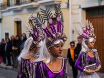 内尔哈,西班牙- 2月10,在服装庆祝的2018People 库存照片