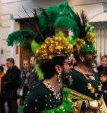 内尔哈,西班牙- 2月10,在服装庆祝的2018People 免版税图库摄影