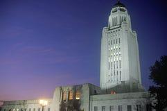 内布拉斯加的状态国会大厦 免版税库存图片