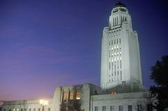 内布拉斯加,林肯的状态国会大厦 库存照片