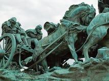 内战纪念品雕象 免版税库存照片